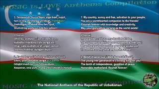Uzbekistan National Anthem with music, vocal and lyrics Uzbek w/English Translation