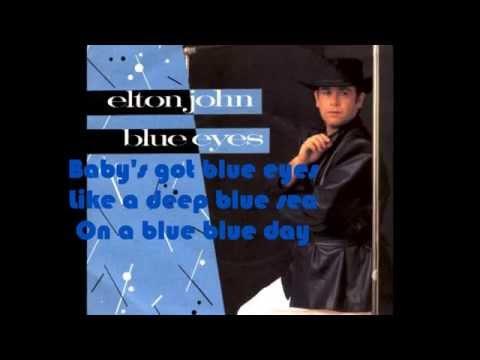 Elton John - Blue Eyes (1982) With Lyrics!