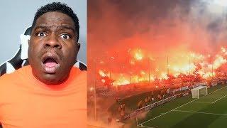 FIRST TIME WATCHING American Football Fans vs European Football Fans - REACTION