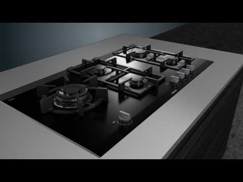 Siemens Gas Hob ER9A6SD70 - Black Video 4