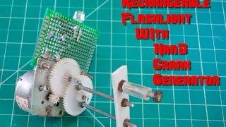Make Rechargeable Hand Crank Flashlight