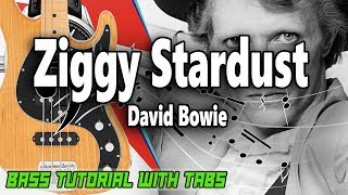 David Bowie   Ziggy Stardust   BASS Tutorial [With Tabs]   Play Along
