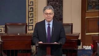 Al Franken resigns from the United States Senate