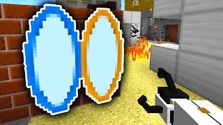 Minecraft PORTAL MOD BATTLE! (Portal Gun Mod) w/ PrestonPlayz & Friends!