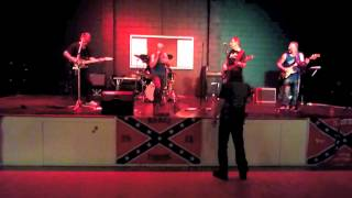 """Dave Rivers Band """"Johnny B Goode/Little Queenie"""" Rebel Vanners Show 18-August-2012."""