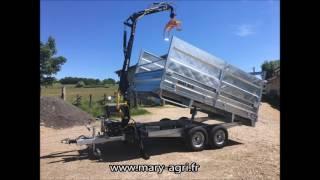 Remorques Routières Avec Grue Forestière MARY AGRI