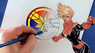 You Can Draw the Captain Marvel Icon! | Marvel Draw!