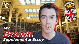 youtube video thumbnail - My Brown Supplemental Essay