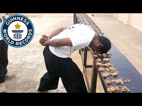 Guinness World Record: Fame hungry man cracks 217 walnuts with his head in one minute