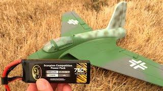 Freewing Lippisch P.15 64mm EDF Jet Test Flight With Scorpion 1800mAh 75C 3S Lipo Battery