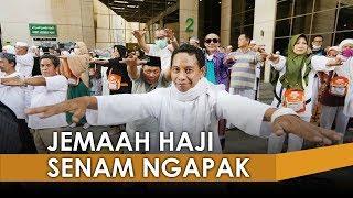 Menuju Sehat saat Puncak Haji, Jemaah Jateng Gelar Senam Ngapak