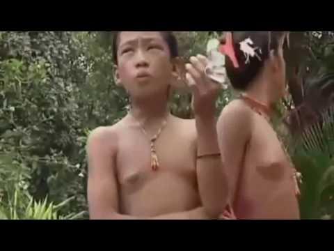 runs -->アマゾンで少女のドキュメンタリー涙部族ラングハング