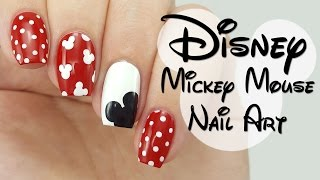 Disney Mickey Mouse Nail Art