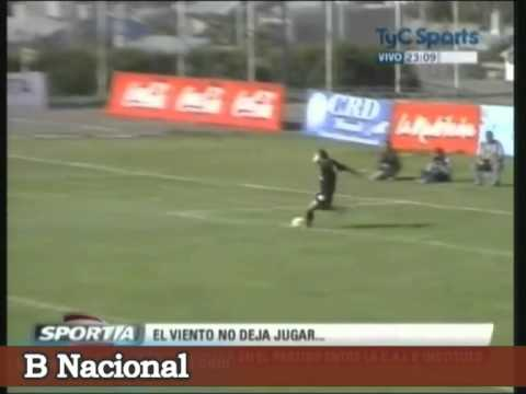 Goalkeeper vs Wind! (vid)