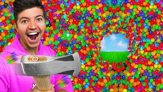 ESCAPING 100 Layers of LEGO vs Orbeez! *trapped*