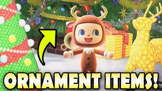 🎄 ALL ORNAMENT ITEMS & How To Get Them EASY In Animal Crossing New Horizons