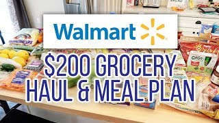 I Lost my Haul Footage! 😫 $200 WalMart Grocery Haul + Meal Plan // March 29, 2019