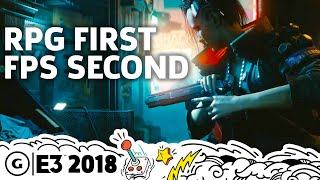 Cyberpunk 2077 Story, Open World, And First-Person Gameplay Details | E3 2018