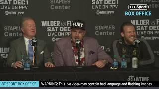 Full Tyson Fury post-fight press conference   Deontay Wilder v Tyson Fury