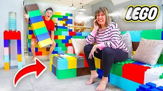 I Replaced EVERYTHING In Mom's House with LEGOS - Prank