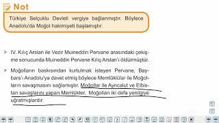 Eğitim Vadisi 10.Sınıf Tarih 3.Föy Yerleşme ve Devletleşme Sürecinde Selçuklu Türkiyesi, Moğol İstilası ve Beylikler Konu Anlatım Videoları