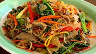 Japchae (Glass Noodles Stir-fried With Vegetables: 잡채)