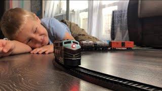 Игрушки Железная дорога Сапсан скоростной, Товарный поезд и огромный паровоз .