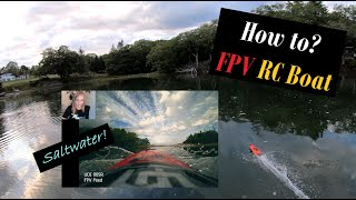 How To: FPV an RC BOAT! ???? (Saltwater Rips & Cinewhoop Chase)