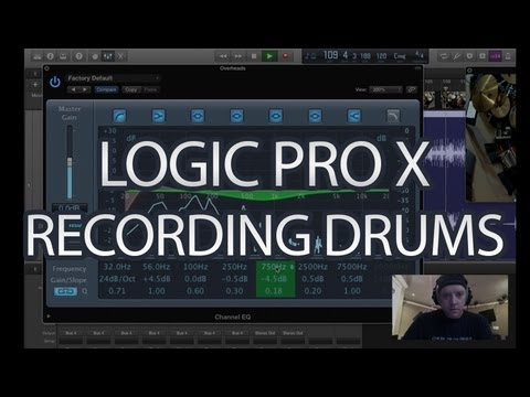 Logic Pro X Tutorial – How to Record Drums – Part 1 – (Logic Pro 10)