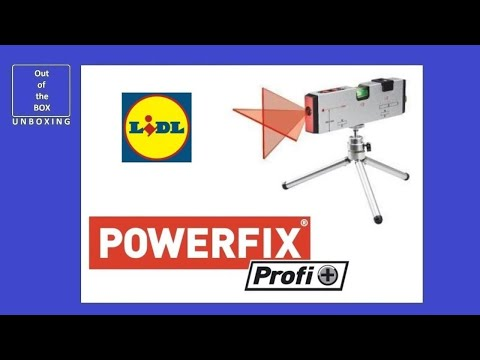 Powerfix Profi + Laser Spirit Level UNBOXING (Lidl Laser class: 2, 2x battery 1.5V , AAA)