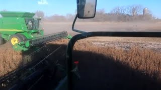 A GREAT last day of Harvesting Soybeans