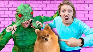 UNMASKING POND MONSTER😱AT 3AM!! BY SHARER LOST PUPPY GRACE CARTER STEPHEN FACE REVEAL CWC PZ BATTLE