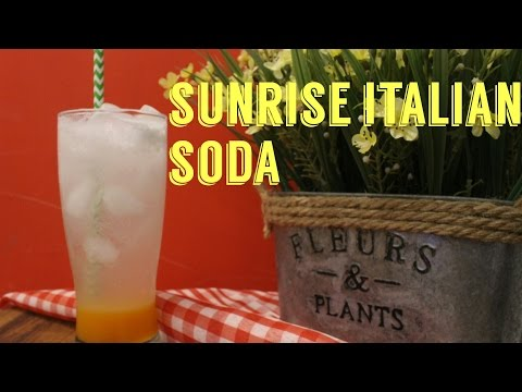 Video Resep Minuman Sunrise Italian Soda