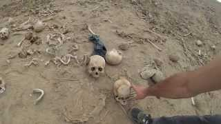 Ancient Burial Site Vandalized Next to Road in Peru