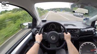 VW Up! 1.0 MPI BlueMotion (2016) On German Autobahn - POV Top Speed Drive