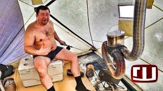 Зимняя платная рыбалка с баней