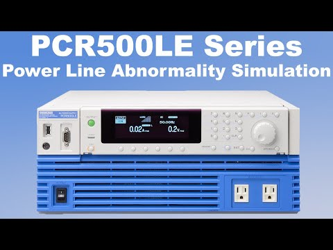 Video of Kikusui AC Power Supply PCR-LE performs Power line abnormality simulation