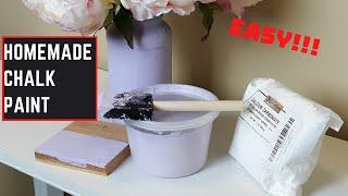 HOMEMADE CHALK PAINT || EASIEST DIY CHALK PAINT RECIPE USING CALCIUM CARBONATE