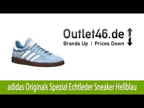 Sportliche adidas Originals Handball Spezial Echtleder Sneaker Hellblau günstig kaufen| Outlet46.de
