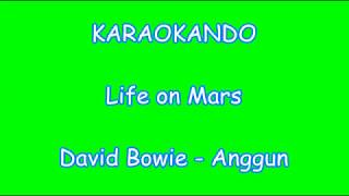Karaoke Internazionale - Life on Mars - David Bowie - Anggun ( Lyrics )
