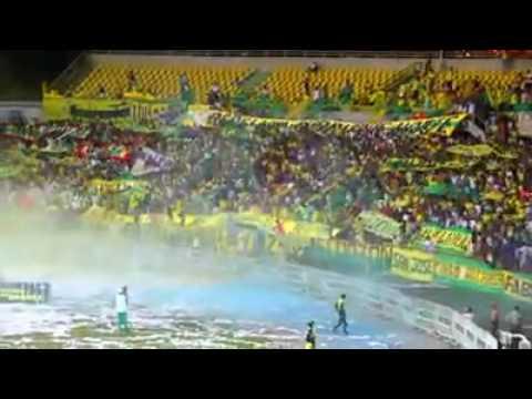 """""""Real Cartagena Vs America - Salida"""" Barra: Rebelión Auriverde Norte • Club: Real Cartagena"""