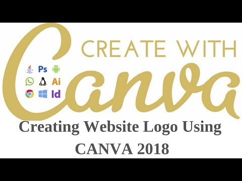 How to Create Your Website logo using canva 2018