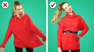 FIX IT ! 12 Girl Fashion Hacks & DIY Clothes to Upgrade Old Wardrobe by Crafty Panda