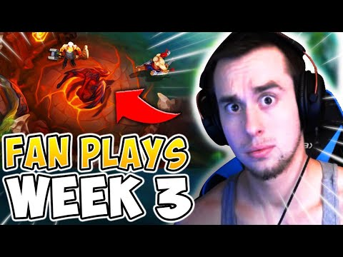 HAS YOUR Q EVER TAKEN YOU *THIS* FAR?? FAN PLAY REACTIONS WEEK 3! - League of Legends
