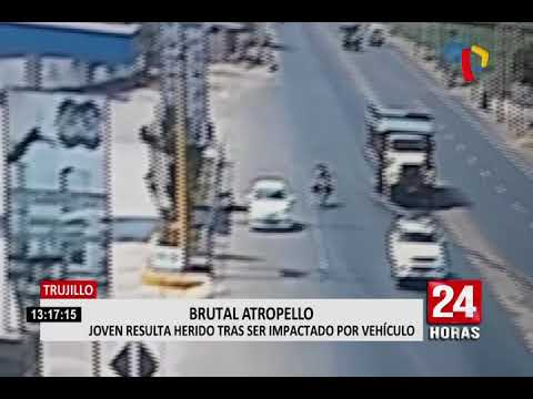 Trujillo: joven resulta herido tras ser impactado por vehículo