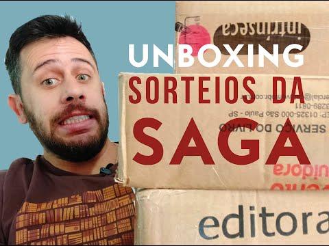 UNBOXING LIVROS + SORTEIOS SAGA LITERÁRIA #1