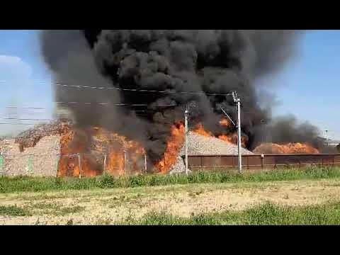 Wideo1: Pożar składowiska odpadów w Przysiece Polskiej