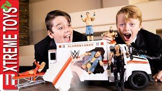WWE Wrekin Slambulance Mayhem! Ethan And Cole Battle With WWE Superstars!