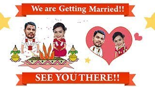 Joys Of Marriage South In Caricature - Funny Wedding Invitation Video