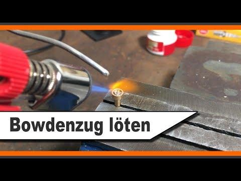 Bowdenzug löten - selber fertigen - Gas Bowdenzug Simson S51 Enduro